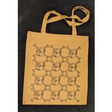 "Cotton Bag - ""bulldog"" bronze/black print"
