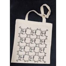 "Cotton Bag - ""bulldog"" nature/black print"