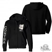 Contra - Streetwear Bulldog -  Zip Hooded Jacket black