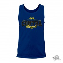 "Contra Records - ""dress up for..."" Men Tanktop  navy blue"
