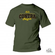 "Contra Records - ""dress up for..."" T-Shirt olive green"
