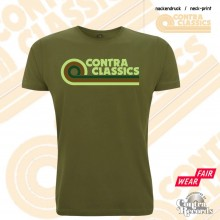 CONTRA CLASSICS - T-Shirt forest green front/neck-print