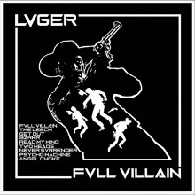 "LVGER - FVLL_VILLAIN 12""LP lim. 300 white with black splatter (Contra EU version)"