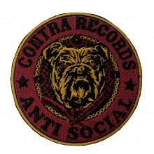 """Contra Records """"Antisocial Bulldog"""" - Patch"""