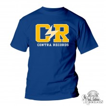 "Contra Records ""C/R"" - T-Shirt royal blue"