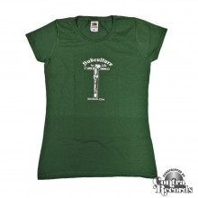 """Subculture for Life """"Worldwide-Crew """" Crucified Girl Shirt green lim.10 pcs chest print edt."""