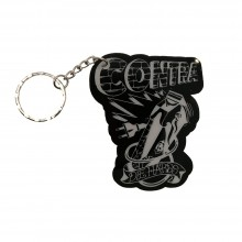 "Contra Records ""Die Hards"" - Keychain clear/black"