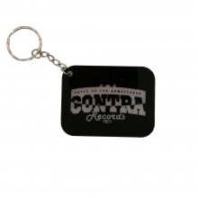 "Contra Records - ""dress up for..."" - Keychain clear/black"