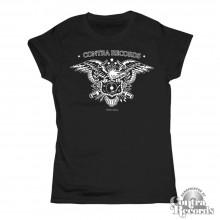 """Contra Records - """"Eagle"""" Girl Shirt black"""
