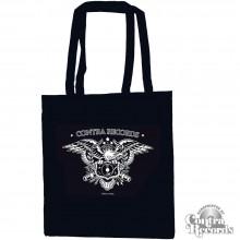 "Cotton Bag - Contra Records ""Eagle"" black"