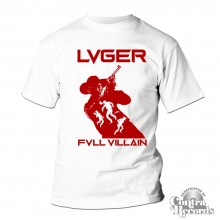 """LVGER - """"FVLL_VILLAIN"""" T-Shirt white"""
