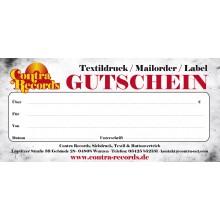 Gutschein - Contra Records (Betrag frei wählbar)