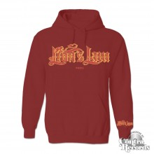 Lion's Law - lettering Hoody oxblood with little armprint
