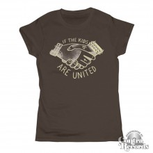 If The Kids Are United - Girl Shirt chestnut