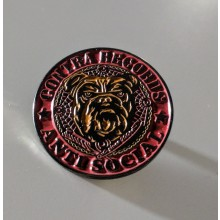 "Metall-Pin - Contra Records ""Antisocial Bulldog"""