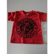Contra Records Antisocial Bulldog - Kids Shirt red