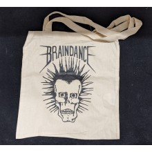 "Cotton Bag ""Braindance Skull"" natural"