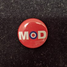 Button - MOD red 25mm
