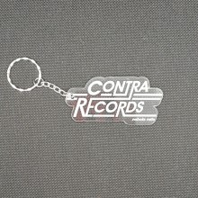 """Contra Records """"Rebels Rule"""" - Keychain clear"""