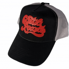 """Contra Records """"it's the real thing"""" - Trucker Cap red on black/white"""