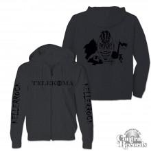 Telekoma - Kellerrock - Zip Hooded Jacket dark heather grey
