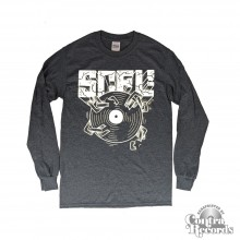 "Subculture for Life - ""SCFL! Vinyl"" - Longsleeve Shirt heather grey lim. Edt."