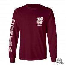 Contra - Streetwear Bulldog - Longsleeve Shirt oxblood