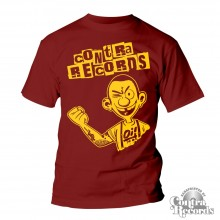 Contra Records Oi! - T-Shirt oxblood