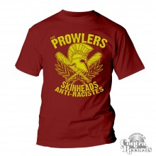 "Prowlers - ""Skinhead Anti-Racistes"" T-Shirt oxblood red"