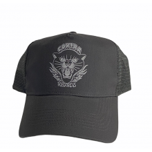 """Contra Records """"Black Panther"""" - Trucker Cap white on grey"""