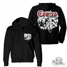 Contra Records - Punk & Skin - Zip Hooded Jacket black