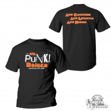 "Punkroiber - ""Antihelden "" - T-Shirt black front/backprint"