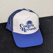"Contra Records ""Vinyl"" - Trucker Cap blue/white"