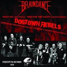 "V/A Braindance / Dogtown Rebels - split 7""EP lim. 250 black"