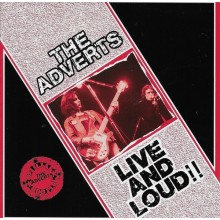 Adverts - Live And Loud !! CD