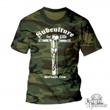 "Subculture for Life  ""Worldwide-Crew "" T-Shirt camo limited"