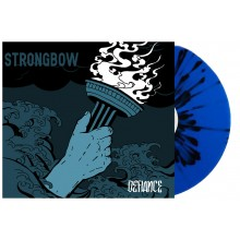 "Strongbow - ""Defiance"" 12""GF-LP lim.200 sea blue with black splatter"