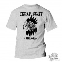 "Cheap Stuff - ""uwaga"" T-Shirt grey"