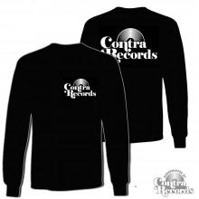 Contra Records - Vinyl - Longsleeve Shirt black front/backprint