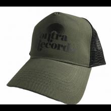 "Contra Records ""Vinyl"" - Trucker Cap black on army green/black"