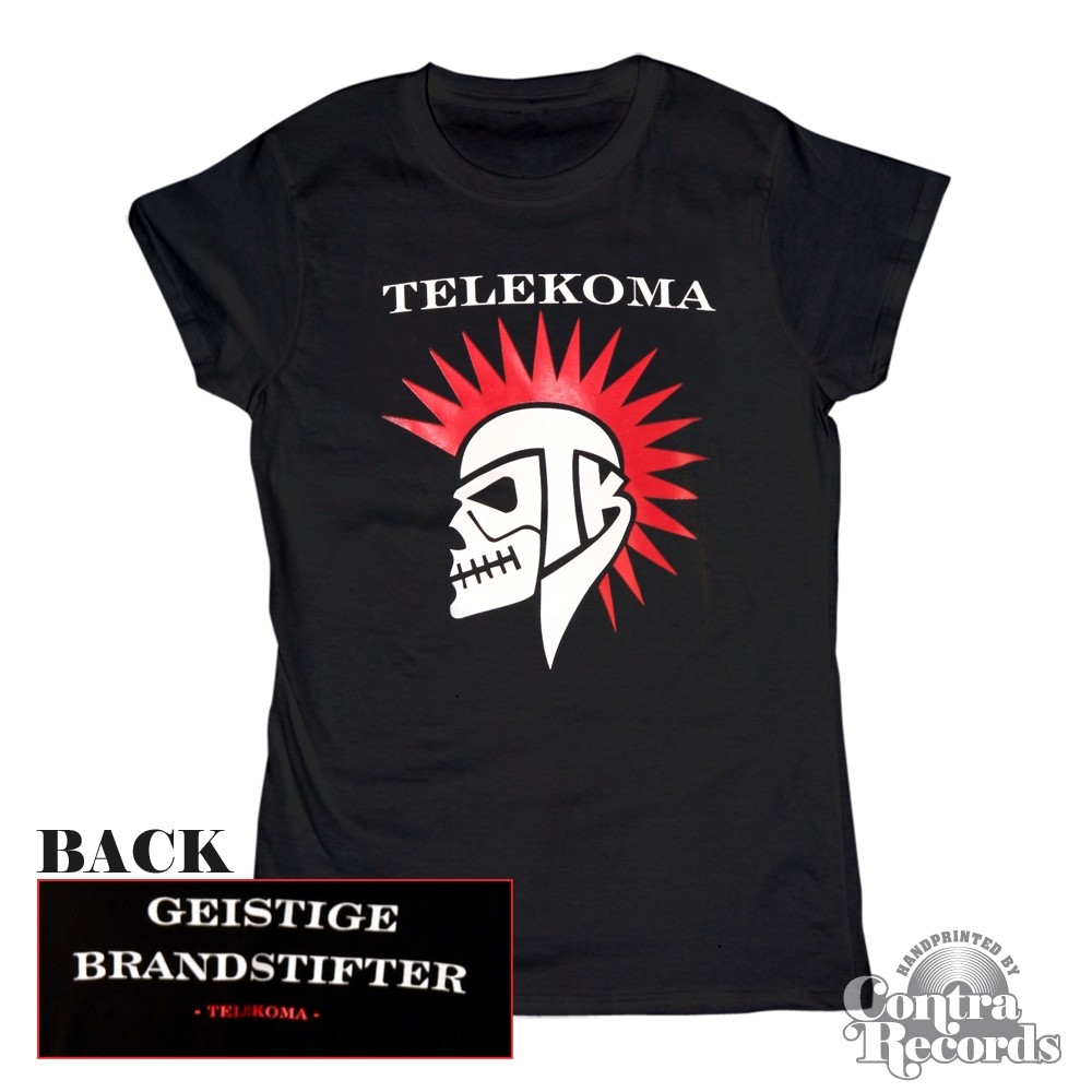 Telekoma - Skull - Girl Shirt black