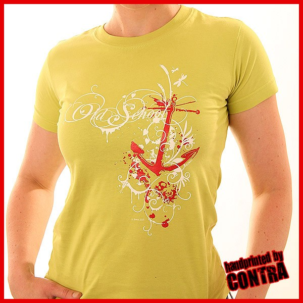 Old school anchor yellow - Girl Shirt