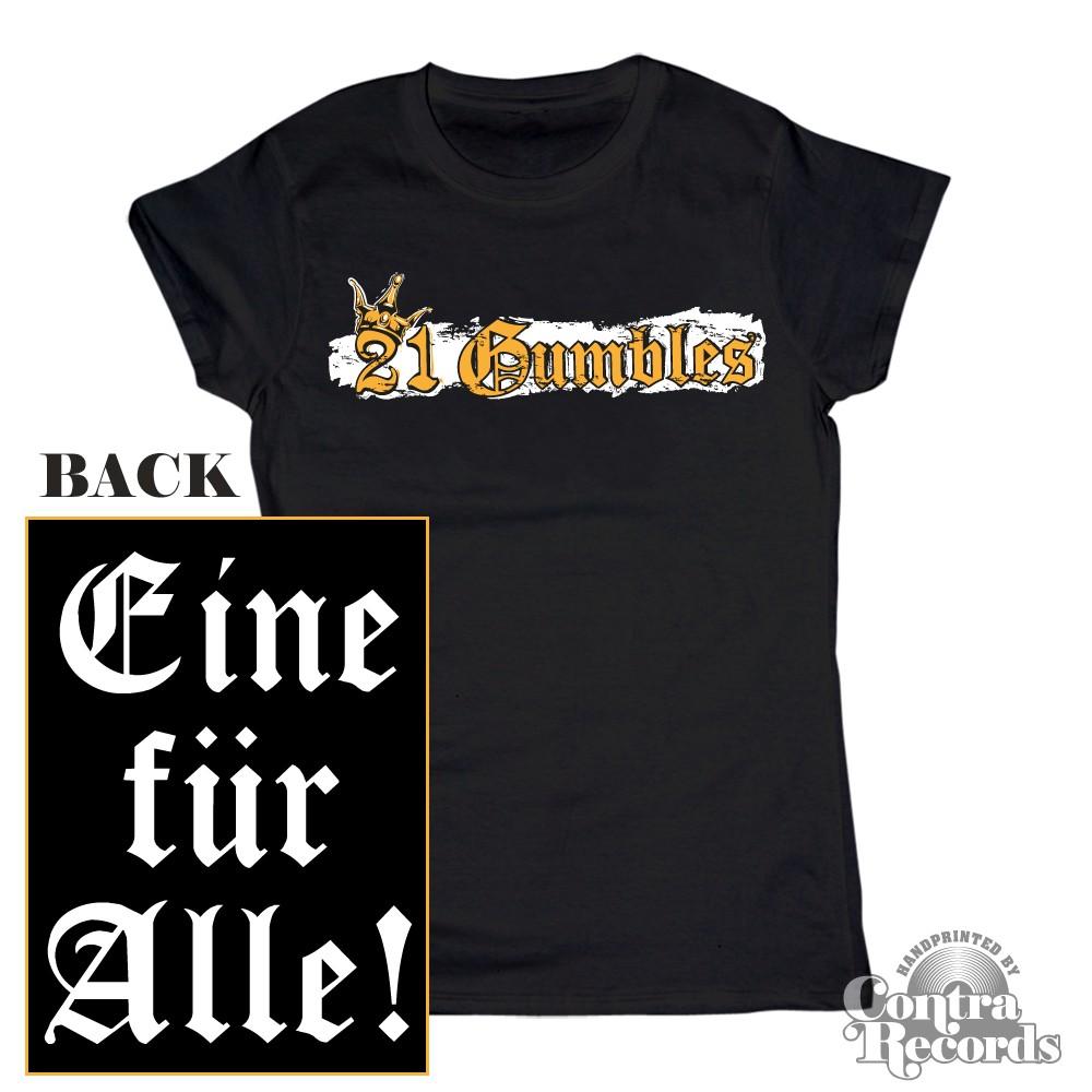 Gumbles - Eine für Alle black - Girl Shirt-XS (last Size!)