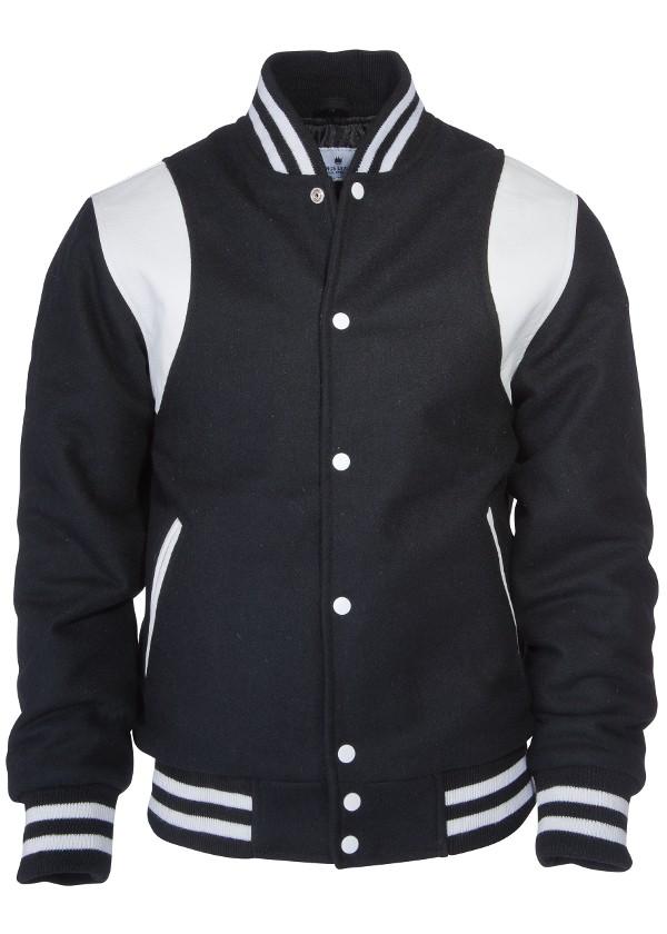 Kings League-black/white-College Jacket Shoulder Stripes-XS (LAST SIZE!)