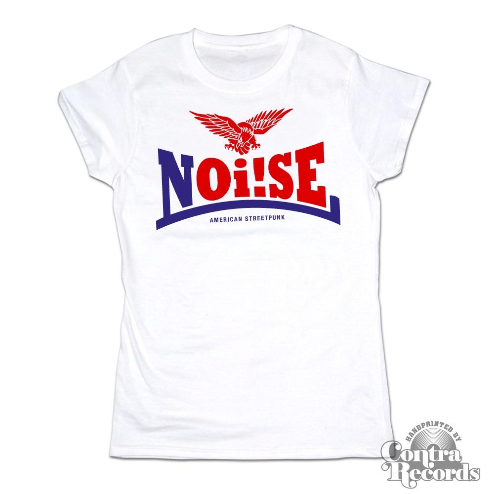 Noi!se - Schriftzug white - Girl Shirt