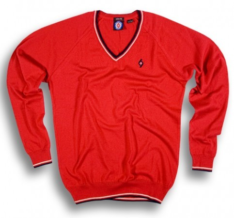 The Spirit of 69 - FELIX Slim Fit dark red - Pullover