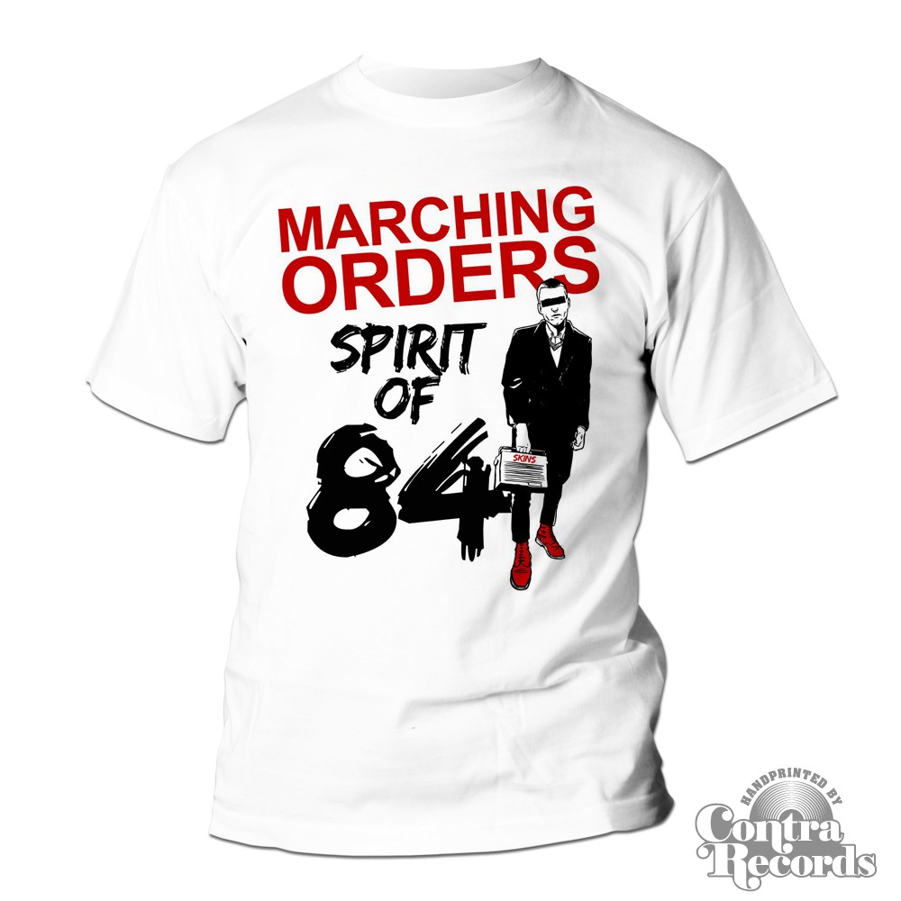 Marching Orders - Band - T-Shirt - Spirit of 84 white (last sizes!!)