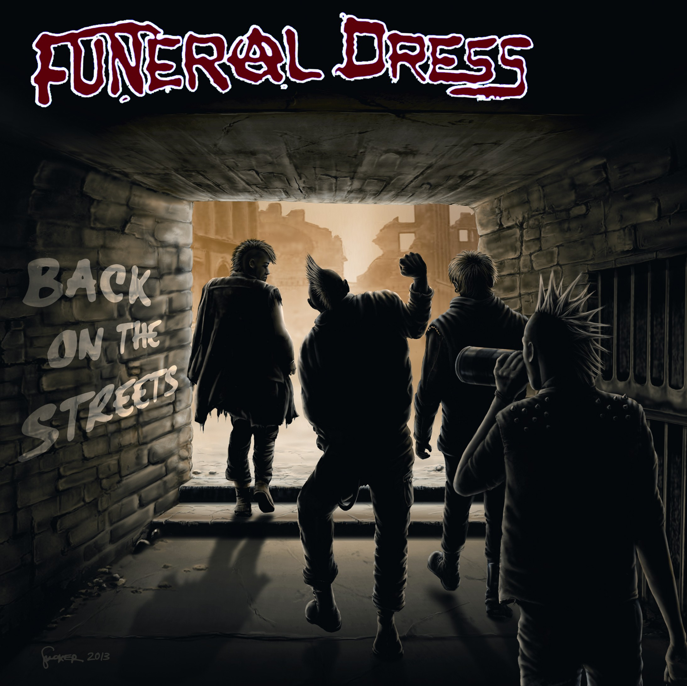 "Funeral Dress - Back on the Streets lim.100pcs.red 7""EP"