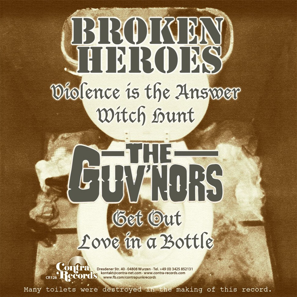 "V/A Broken Heroes/Guvnors-split-7""EP lim.134 Brown Cover"