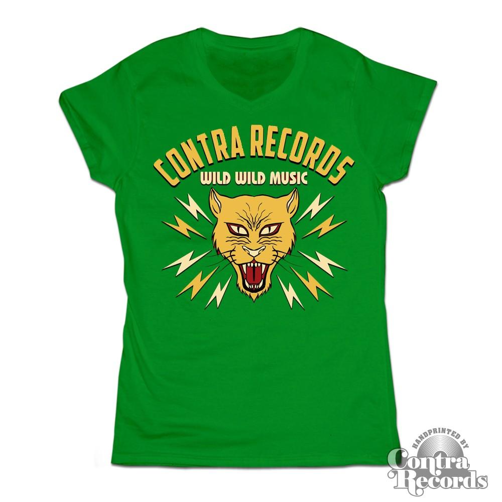 Girl Shirt - Contra Records - Wild Wild Music - V-Neck (last sizes!)